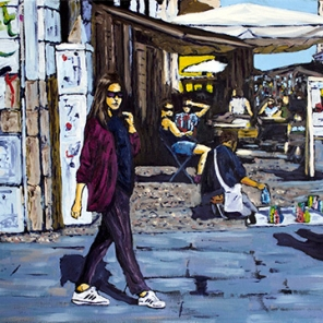 Market Crossing-12x24 inches