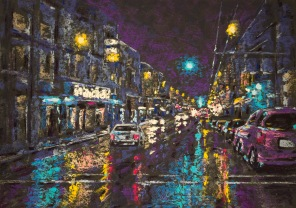 Night Reflections - 10x14 inches