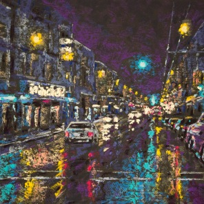 Night Reflections - 10x14 - SOLD