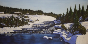 Northern Thaw in Nadleh - 12x24 inches