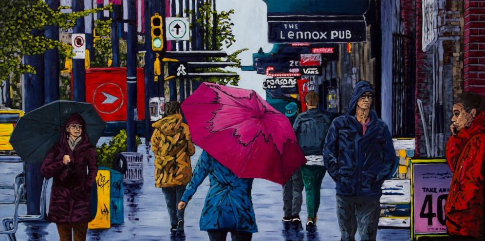 A Walk Downtown 24x48 Available