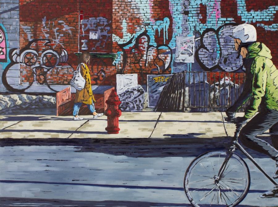 Dave Denson_Brooklyn Street_Oil_30x40 inches